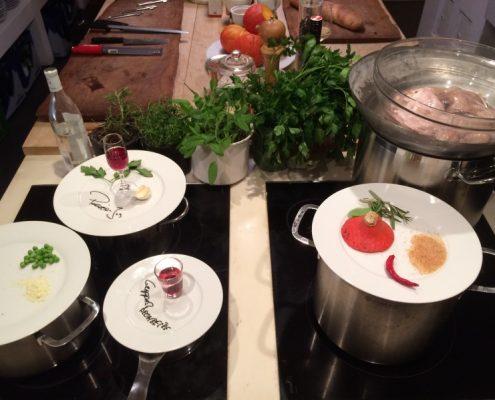 Location mieten gemeinsames Kochen, privates Kochevent, kulinarischen Teamevent, Kochkurs München